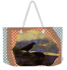 Weekender Tote Bag featuring the photograph In The Shadows by Kathie Chicoine