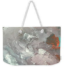 Weekender Tote Bag featuring the painting Incoming by Karen Nicholson