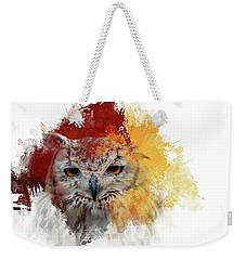 Indian Eagle-owl Weekender Tote Bag