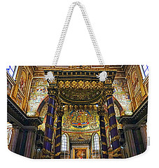 Interior View Of The Basilica Di Santa Maria Maggiore In Rome Italy Weekender Tote Bag