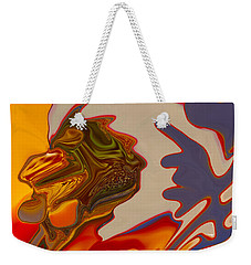 Weekender Tote Bag featuring the painting Intuition by Omaste Witkowski