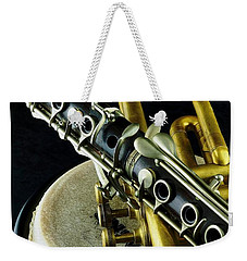 Weekender Tote Bag featuring the photograph Jazz by Elf Evans