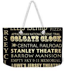 Jersey City Famous Landmarks Weekender Tote Bag