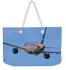 Jet Blue Weekender Tote Bag
