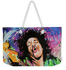 Jimi Hendrix Weekender Tote Bag by Richard Day