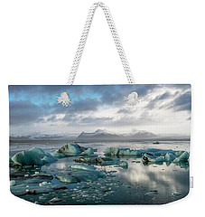 Weekender Tote Bag featuring the photograph Jokulsarlon, The Glacier Lagoon, Iceland 3 by Dubi Roman