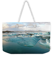 Weekender Tote Bag featuring the photograph Jokulsarlon The Glacier Lagoon, Iceland 2 by Dubi Roman