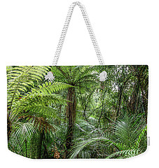 Weekender Tote Bag featuring the photograph Jungle Ferns by Les Cunliffe