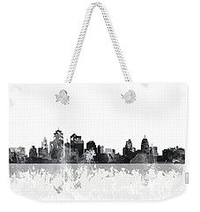 Kansas City Missouri Skyline Weekender Tote Bag by Marlene Watson
