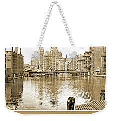 Kilbourn Avenue Bridge, Milwaukee River, C.1915, Vintage Photogr Weekender Tote Bag
