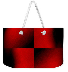 Weekender Tote Bag featuring the photograph Lady In Red  An Ongoing Series by Jack Dillhunt