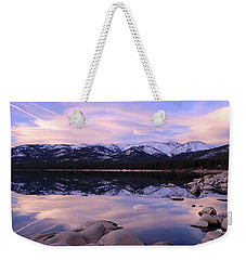 Weekender Tote Bag featuring the photograph Lake Tahoe Rocks by Sean Sarsfield