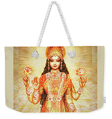 Lakshmi The Goddess Of Fortune And Abundance Weekender Tote Bag