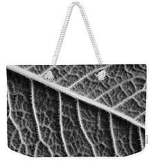Weekender Tote Bag featuring the photograph Leaf by Chevy Fleet