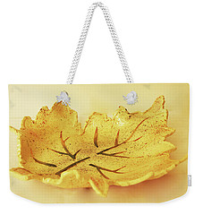 Leaf Plate2 Weekender Tote Bag by Itzhak Richter
