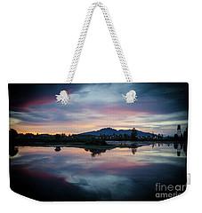 Lebanon Oregon Sunset Weekender Tote Bag by Nick Boren
