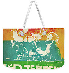 Led Zeppelin  Weekender Tote Bag by FHT Designs