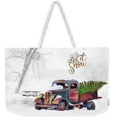 Let It Snow Weekender Tote Bag