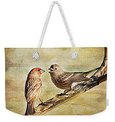 2 Little Love Birds Weekender Tote Bag by Barbara Manis