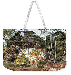 Weekender Tote Bag featuring the photograph Little Pravcice Gate - Famous Natural Sandstone Arch by Michal Boubin