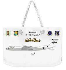 Weekender Tote Bag featuring the digital art Lockheed C-141b by Arthur Eggers