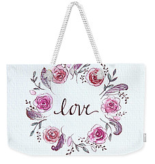 Weekender Tote Bag featuring the painting Love by Elizabeth Robinette Tyndall