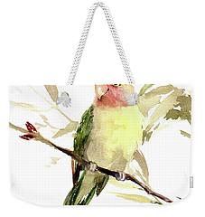 Lovebird Weekender Tote Bag by Suren Nersisyan