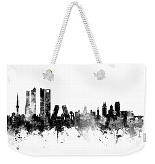 Madrid Spain Skyline Weekender Tote Bag by Michael Tompsett