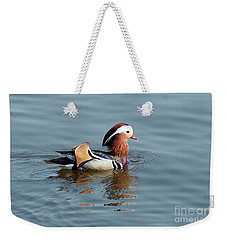 Weekender Tote Bag featuring the photograph Mandarin Duck by Michal Boubin