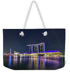 Marina Bay Sands And The Artscience Museum In Singapore Weekender Tote Bag