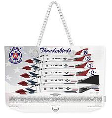 Mcdonnell Douglas F-4e Phantom II Thunderbirds Weekender Tote Bag