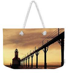 Michigan City Lighthouse Weekender Tote Bag