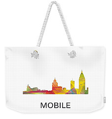 Mobile Alabama Skyline Weekender Tote Bag