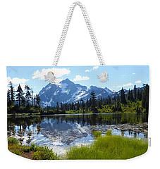 Mount Shuksan Reflection Weekender Tote Bag