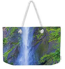 Weekender Tote Bag featuring the photograph Multnomah Falls Bridge by Jonny D