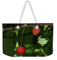 Weekender Tote Bag featuring the photograph My Cherry by Elvira Ladocki