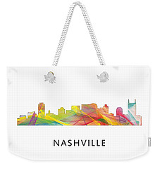 Nashville Tennessee Skyline Weekender Tote Bag by Marlene Watson