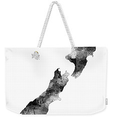 New Zealand Map Weekender Tote Bag by Marlene Watson