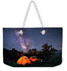 Night Camping Weekender Tote Bag