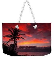 Oceanfront Sunrise Weekender Tote Bag
