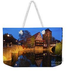 Nuremberg At Night Weekender Tote Bag