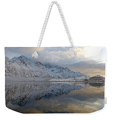 Weekender Tote Bag featuring the photograph On My Way Through Lofoten 3 by Dubi Roman