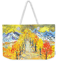 On The Road Weekender Tote Bag by Evelina Popilian