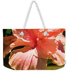 Orange Flower Weekender Tote Bag by James Gay
