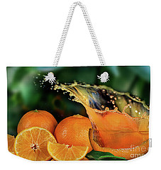 Orange Splash Weekender Tote Bag by Shirley Mangini