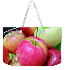 Organic Apples Weekender Tote Bag