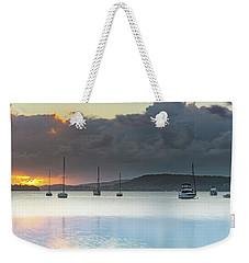 Overcast Sunrise Waterscape Weekender Tote Bag