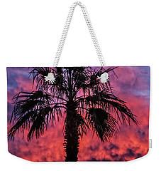Palm Tree Silhouette Weekender Tote Bag by Robert Bales