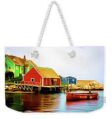 Peggy's Cove Weekender Tote Bag by Andre Faubert