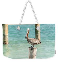 Pelican At Isla Mujeres Weekender Tote Bag